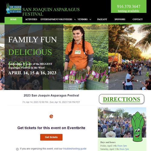 Asparagus Festival 2020.Home Sanjoaquinasparagusfestival Net
